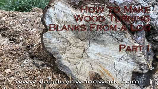 cutting spalted wood turning blanks