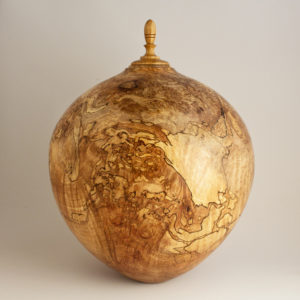 Cremation Art - Spalted Maple Burl Cremation Urn