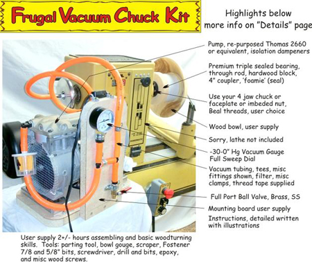 Frugal Vacuum Chuck system