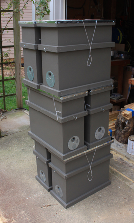 insulated double deep swarm boxes